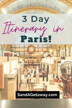 Looking to spend a long weekend in Paris?  This is your perfect itinerary!  You will walk through Paris in style, and go to the best restaurant and bars with the perfect Paris aesthetic with our Paris travel guide!  You will see our favorite things to do in Paris, and get great photography tips!  Between the Eiffel Tower, Arc de Triomphe and Notre Dame, you will never be bored while traveling Paris! Prague Travel Guide, Paris Travel Guide, Amsterdam Itinerary, Paris Itinerary, Paris In 3 Days, Paris Paris, Paris France, Road Trip Europe, Europe On A Budget