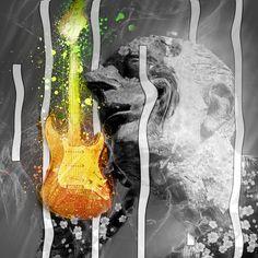 Modern, Grafikdesign, Grafik, Statur, Wandbild, digitale Grafik, Musik, Gitarre Web Banner, Flyer, Grafik Design, Portrait, Abstract, Modern, Artwork, Inspiration, Music Guitar