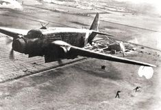 """Fascist Italian Savoia-Marchetti SM.81 Pipistrello (Italian for: """"Bat"""") the first three-engine bomber/transport aircraft serving in the Italian Regia Aeronautica. When it appeared in 1935, it represented a real step ahead in military aviation: it was fast, well armed and had a long range. It proved effective during the war with Ethiopia and the Spanish Civil War."""
