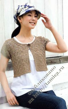 Beige bolero ♥LCT♥ with diagrams