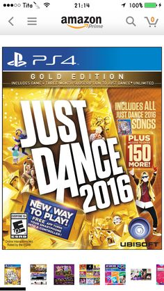 Just Dance 2016- gold edition  37.99 (on Amazon) for PS4 Just Dance 2016 98de933ce4a5