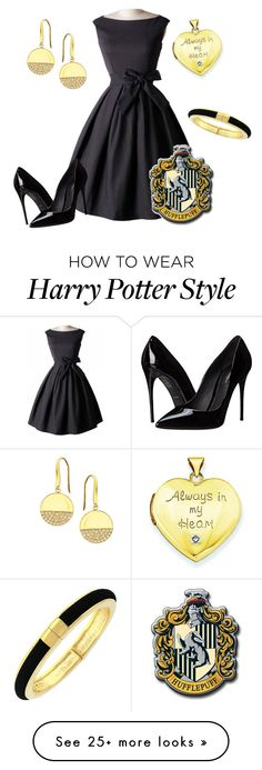 """Hufflepuff Yule Ball Outfit IX"" by getmetohogwarts on Polyvore featuring Dolce&Gabbana, Kevin Jewelers, Lana, Vince Camuto, women's clothing, women's fashion, women, female, woman and misses"
