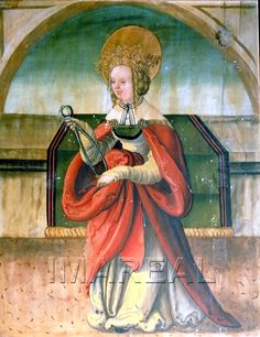 Hl. Apollonia 1515-1520; Mlynica; Slowakei; Pfarrkirche St. Margareta  http://tarvos.imareal.oeaw.ac.at/server/images/7012865.JPG