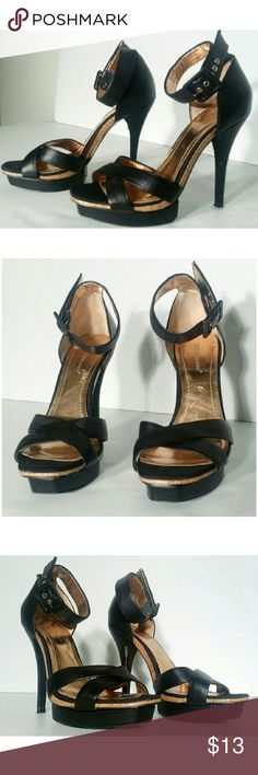 BCBG Womens Black High Heels Size 10 Some scratches other than that In good condition!! Very adorable!! A great gift!! Fast shipping!! BCBGeneration Shoes Heels