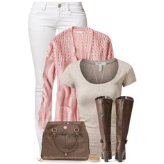 """""""Pink & Brown"""" by stay-at-home-mom on Polyvore"""