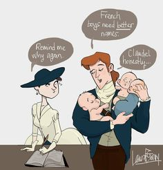 Jamie doesn't believe the french know how to name their boys.takes it upon himself to rename all french males. Outlander Book 2, Outlander Quotes, Jefferson Hamilton, French Boys, Dragonfly In Amber, Ferrat, Cute Couples, Comics, Instagram