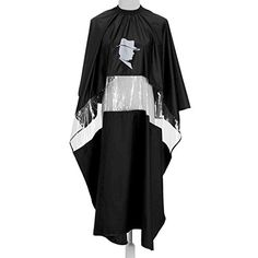 Yoption Waterproof Hair Cutting Barbers Gown Salon Cape Hairdressing Seethrough Black >>> Want to know more, click on the image.Note:It is affiliate link to Amazon. #sf