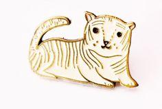 White Tiger Pin