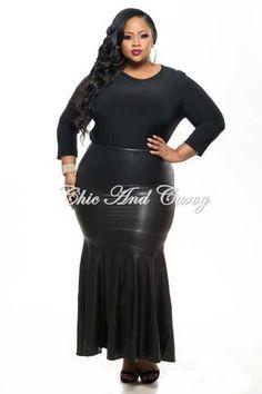 Final Sale Plus Size Liquid Mermaid Skirt in Royal Blue