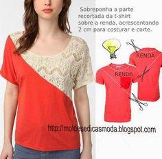 RECICLAGEM DE CAMISA - 6   Moldes Moda por Medida   Bloglovin'