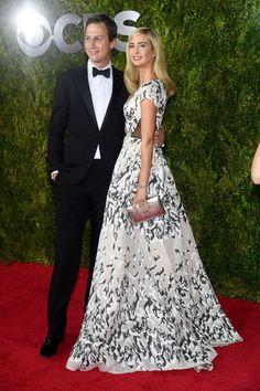 Jared Kushner and Ivanka Trump (Trump in Prabal Gurung). See what everyone wore to the 2015 Tony Awards.