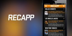 Recapp Making It Easier For Fans To Get Their Sports News. Via @TOK.tv