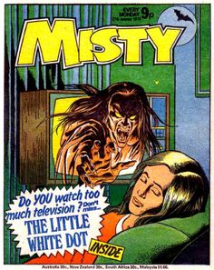 Whoa.  Kinda predicting a bit of Poltergeist and The Ring all at once in this retro comic!   Classic Horror comics