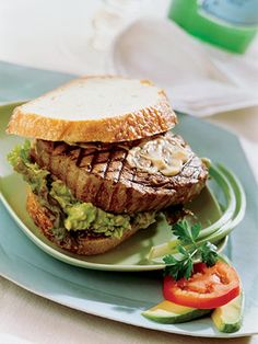 Try this California-style sandwich for your next backyard cookout. The ginger marinated tuna steaks served on sourdough bread with ginger-soy mayonnaise and mashed avocado are sure to win accolades.