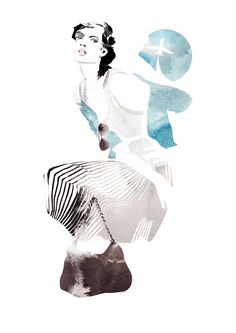fashion illustration -   Francesca Waddell