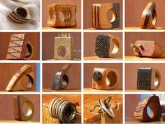 diversos anillos madera