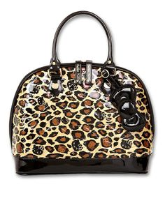 dd656a73ce0f Loungefly - Hello Kitty Leopard Patent Embossed Dome Bag- I would use this  to be honest