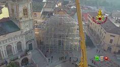 Vigili del Fuoco - Messa in sicurezza facciata Basilica San Benedetto - ...