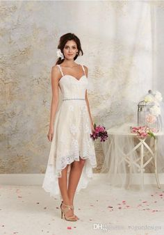 Detachable Short Beach Wedding Dresses with Lace 2016 A Line Sweetheart Beads Applique Bridal Plus Size wedding Style Arabic Champagne