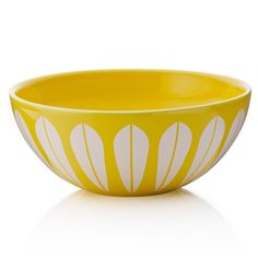 Lucie Kaas Lotus skål gul 24cm