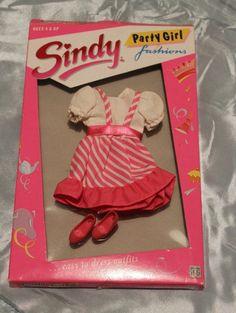 Vintage Retro Hasbro Sindy 1988 Candy Stripes Party Girl Fashions | eBay