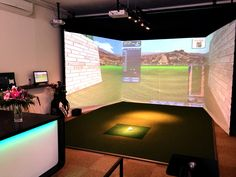 Exclusive 5 stars golf simulator installation at VEGA GOLF ACADEMY BRNO. www.vega-golf-brno.cz or www.credos-golf.com
