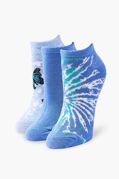 Forever 21, Unique Socks, Funky Socks, Bag Icon, High Knees, Spandex, Ankle Socks, Crew Socks, Pink Blue