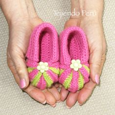 Crochet: zapatitos acordeón con punta en dos colores! Video tutorial del paso a paso :)