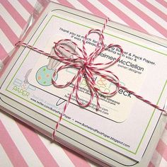 cute finishing touch...wonder if it would work with thin ribbon?...must try it