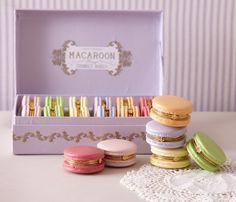 Macaroon Boxes @Amy Spegal thought of you when i saw these! they are so pretty!