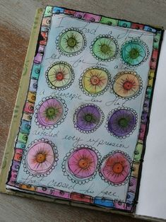 Daily sketchbook visual journal on ramblingrose ....love the complimentary border
