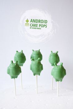 Cute Robot Android Cake Pops by niner bakes, via Flickr