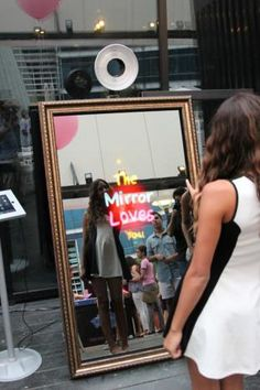 Master's Mirror Me Booth is a new portable photo option for events, with a camera embedded behind a mirror.