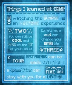 Amen. My best experiences are on trips and camps.