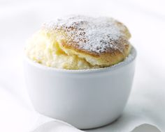 Impress dinner guests with these low-fat soufflés.Search triple tested recipes from the Good Housekeeping Cookery Team. Souffle Recipes, Pudding Recipes, Dessert Recipes, Party Desserts, Pork Recipes, Baking Recipes, Pork Casserole, Low Fat Desserts, Passionfruit Recipes