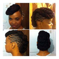 Natural hair updo #naturalgurlygirl