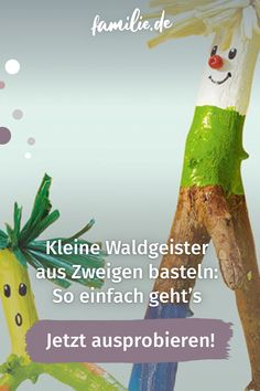 Bei eurem nächsten Spaziergang solltet ihr unbedingt ein paar Äste und Zweige sammeln. Damit könnt ihr später dann lustige kleine Waldgeister basteln. Und so geht's. #wald #waldgeister #herbst #basteln #diy #selbermachen #familienzeit #zweige #herbstlaub Christmas Ornaments, Holiday Decor, Children, Outdoor Decor, Ideas, Bricolage, Summer Kids, Autumn Leaves, Young Children