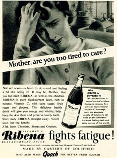 Ribena...and all it's health benefits...with 3 kinds of sugar~cane sugar (sucrose), fruit sugar (fructose) and glucose!