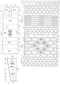 Álbumes web de Picasa Crochet Diagram, Crochet Chart, Crochet Motif, Crochet Stitches, Crochet Patterns, Crochet Ideas, Mode Crochet, Nice Dresses, Knitting