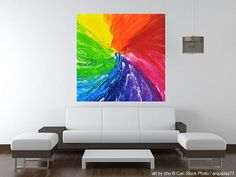 RESERVED painting pride04 acryl on canvas 100x100x4cm