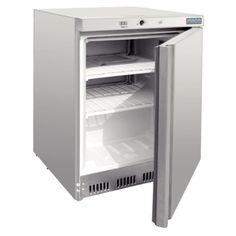 Underbench Commercial Freezer 140Lt Stainless Steel Polar LED Temp Display Cafe