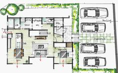 Trendy home plans contemporary layout Ideas Craftsman Floor Plans, House Floor Plans, Small Apartment Closet, Landscape Architecture Drawing, Modern Entrance, Home Studio Music, Home Icon, Home Wallpaper, Japanese House