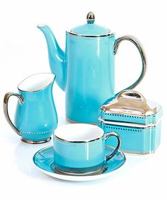 Just a beautiful tea set in aqua.....love