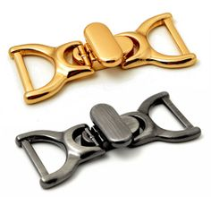 10 x 20mm gold finish  metal buckle bag shoe corset leather craft belt strap