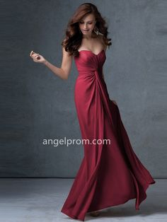 A-line Strapless Sleeveless Chiffon Bridesmaid Dresses With Ruffles