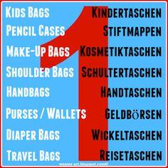 Biggest free bag patterns collection 1 / Größte kostenlose...