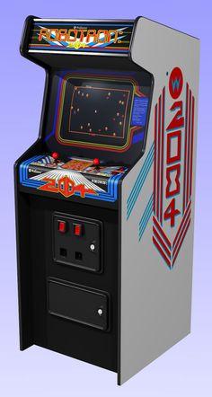 Robotron 2084 arcade game made by Williams Vintage Videos, Vintage Video Games, Retro Video Games, Vintage Games, Arcade Game Machines, Arcade Machine, Midway Arcade, Bartop Arcade, Retro Arcade Games