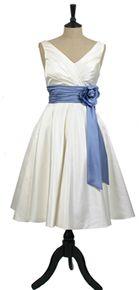 Ivory satin 50's Dress