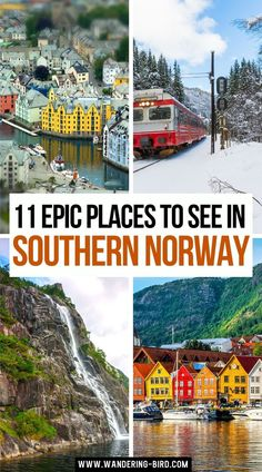 Planning to travel to Norway? Looking for places to visit and things to see? Here are 11 of the most BEAUTIFUL places to see in Norway, with MAP!! There are waterfalls, fjords, towns, cities, tunnels and hikes! Add them all into your perfect Norway road trip itinerary today! Best Places to see in Norway | Beautiful Places in Norway | Norway Travel | Norway Itinerary | Southern Norway Roadtrip | Southern Norway Travel | Norway Roadtrip, Norway Vacation, Norway Travel, European Vacation, European Travel, Euro Travel, Travel Around Europe, Europe Travel Guide, Travel Destinations