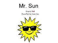 Mr. Sun song book